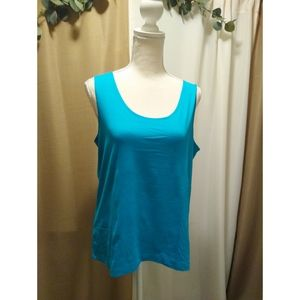 Size 2 (L) Chico's teal/ turquoise shell/ cami